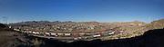 Panorama of Rio Grande / Rio Bravo at El Paso del Norte