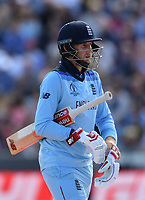 Cricket - 2019 ICC Cricket World Cup - Group Stage: England vs. Sri Lanka<br /> <br /> England's Joe Root given out after a DRS review, caught behind off the bowling of Sri Lanka's Lasith Malinga, at Headingley, Leeds<br /> <br /> COLORSPORT/ASHLEY WESTERN