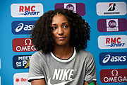 Nafissatou Thiam (BEL) during press conference of Meeting de Paris 2018, Diamond League, at Hotel Marriott, in Paris, France, on June 29, 2018 - Photo Jean-Marie Hervio / KMSP / ProSportsImages / DPPI