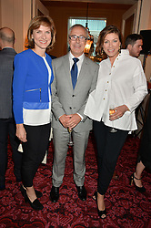 Left to right, FIONA BRUCE, JOHN ZAMMETT and KATE SILVERTON at the Audi Ballet Evening at The Royal Opera House, Covent Garden, London on 23rd April 2015.