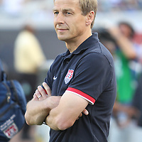 USA National Mens Team head coach Jurgen Klinsmann during an international friendly soccer match between Scotland and the United States at EverBank Field on Saturday, May 26, 2012 in Jacksonville, Florida.  The United States won the match 5-1 in front of 44,000 fans. (AP Photo/Alex Menendez)