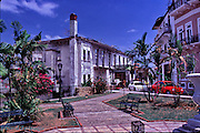 Colón sea port Caribbean Sea coast of Panama Oceanfront Houses, Central America,