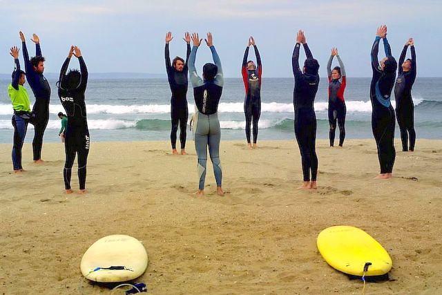Surfer School at Cachagua beach