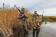 Waterfowlers enjoying a Manitoba Diver Hunt.