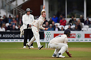 Simon Harmer of Essex bowling during the Specsavers County Champ Div 1 match between Somerset County Cricket Club and Essex County Cricket Club at the Cooper Associates County Ground, Taunton, United Kingdom on 23 September 2019.
