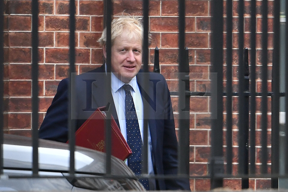© Licensed to London News Pictures. 12/09/2019. London, UK. British PM BORIS JOHNSON is seen leaving Downing Street in  Westminster, London. Yesterday a Scottish court ruled that the suspension of Parliament by British PM Boris Johnson was illegal. Photo credit: Ben Cawthra/LNP