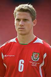 WREXHAM, WALES - Saturday, October 10, 2009: Wales' Christian Ribeiro before the UEFA Under-21 Championship Qualifying Round Group 3 match against Bosnia-Herzegovina at the Racecourse Ground. (Pic by Chris Brunskill/Propaganda)