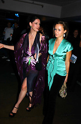 Left to right, Fashion designer MARIA GRACHVOGEL and CAMILLA  AL FAYED at Fashion Fringe - part of London fashion week held at the Selfridges Car Park, off Oxford Street, London on 22nd September 2004.<br />