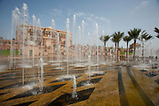 Emirates Palace Hotel. 7 Star luxury, state-owned and managed by Kempinski. The fountain.