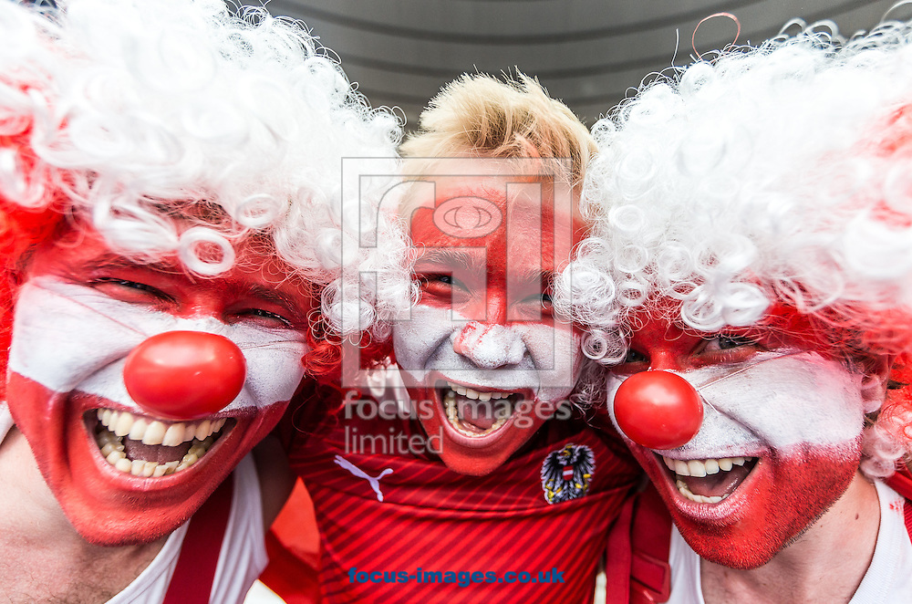 Fans of Austria during the UEFA Euro 2016 match at Stade Velodrome, Marseille, France.<br /> Picture by EXPA Pictures/Focus Images Ltd 07814482222<br /> 22/06/2016<br /> *** UK &amp; IRELAND ONLY ***<br /> EXPA-FEI-160622-5009.jpg