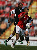 Photo: Rich Eaton.<br /> <br /> Bristol City v Swansea City. Coca Cola League 1. 07/04/2007. Kevin Betsy of Bristol attacks