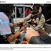 "Screengrab of ""Battle for Libya"" published in The New York Times"