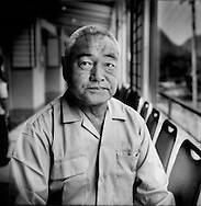 Akiyo Watanabe of Okuma Machi, lives beside the troubled Fukushima Daiichi nuclear power station, has been farming since his retirement from working with a railroad company.  Now he has had to evacuate to Higashiyama Park Hotel, in Aizu-Wakamatsu, Fukushima Prefecture, Japan..  ..