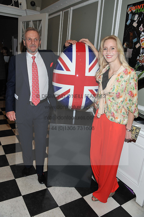 MARK SHAND and RUTH POWYS at a champagne reception to launch The Big Egg Hunt presented by Faberge in aid of the charities Action for Children and Elephant Family held at 29 Portland Place, London on 18th January 2012.
