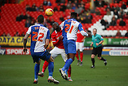Charlton Athletic striker, Igor Vetokele (14) not able to find a way through during the Sky Bet Championship match between Charlton Athletic and Blackburn Rovers at The Valley, London, England on 23 January 2016. Photo by Matthew Redman.