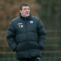 St Johnstone Training....31.01.14<br /> Manager Tommy Wright pictured during training this morning ahead of tomorrow's League Cup Final against Aberdeen.<br /> Picture by Graeme Hart.<br /> Copyright Perthshire Picture Agency<br /> Tel: 01738 623350  Mobile: 07990 594431