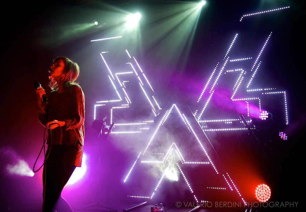 Chvrches playing the Cambridge Junction on 12 March 2014