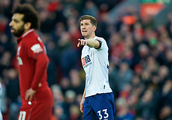 LIVERPOOL, ENGLAND - Saturday, February 9, 2019: AFC Bournemouth's Chris Mepham during the FA Premier League match between Liverpool FC and AFC Bournemouth at Anfield. (Pic by David Rawcliffe/Propaganda)