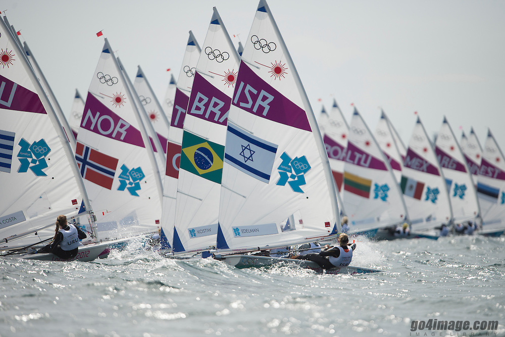 2012 Olympic Games London / Weymouth<br /> Racing day 1 Laser<br /> <br /> Radial Fleet Starting