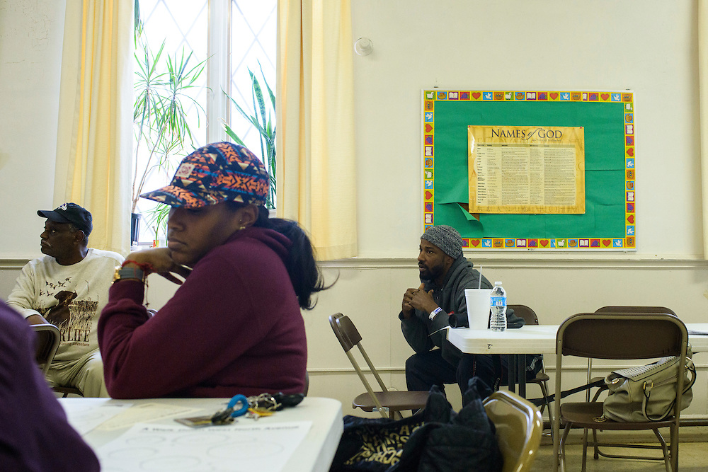 Baltimore, Maryland - May 03, 2014: The Neighborhood Design Center hosted the West North Ave. Streetscape Visioning Workshop at  Church of the Holy Trinity.<br /> <br /> CREDIT: Matt Roth
