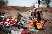 INDIA, KANKER PALACE, MARCH 2014<br />Like a rare unearthed diamond there are tribal parts of Chhattisgarh where humanity is still untouched by mobile networks and cathode ray tubes but could soon disappear in the encroaching digital world around. I've come here in early Spring at the end of the colourful Kumbh Mela festival season. It's a land of leopards, shamans, forest dwellers, animist beliefs, a hindu hierarchy and a robust royal family intent of leaving a legacy to the region around them. Chhattisgarh really is a microcosm of the beautiful complexities of old and new India.Maharajah of Kanker at the royal family palace, two hours south of Raipur, a neocolonial residence built in 1937 by the British agent with 6 rooms in the right wing now given over to guests (along with a further 12 rooms in outlying cottages).<br /> @Giulio Di Sturco