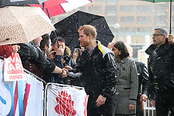 Prince Harry meets members of the public on a walkabout on Circular Quay in Sydney, Australia, during a day of events to mark the official launch of the Invictus Games Sydney 2018.