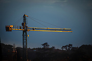 "Golden construction crane. Sant Cugat del Valles, Barcelona, Catalonia This mage can be licensed via Millennium Images. Contact me for more details, or email mail@milim.com For prints, contact me, or click ""add to cart"" to some standard print options."