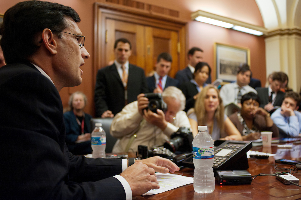House Majority Leader ERIC CANTOR (R-VA) during a press conference on Capitol Hill Tuesday answering questions about the President's proposed tax hikes on the weathy.