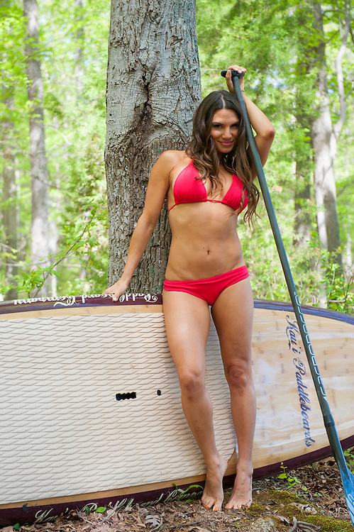 Lauren Abraham in North Carolina for the 2014 SUP Swimsuit Issue.