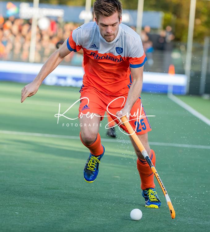 AMSTELVEEN - Thierry Brinkman (Ned)   tijdens  de tweede  Olympische kwalificatiewedstrijd hockey mannen ,  Nederland-Pakistan (6-1). Oranje plaatst zich voor de Olympische Spelen 2020.  COPYRIGHT KOEN SUYK