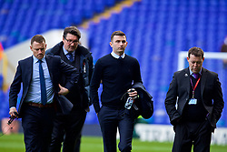 LONDON, ENGLAND - Sunday, March 5, 2017: Referee Michael Oliver and his team inspect the pitch before the FA Premier League match between Everton and Tottenham Hotspur at White Hart Lane. (Pic by David Rawcliffe/Propaganda)
