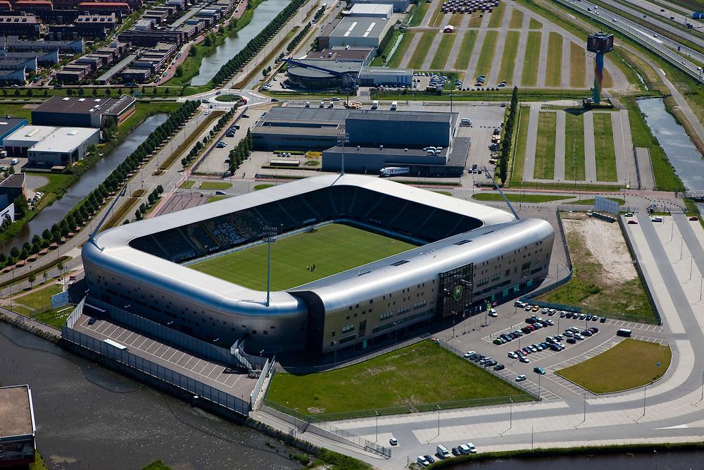Nederland, Zuid-Holland, Den Haag, 12-05-2009; Haags Kwartier met stadion ADO-Den Haag in Forepark (Leidscheenveen). Fans noemen het met aluminium beklede stadion het Aad Mansveld Stadion.<br /> Swart collectie, luchtfoto (toeslag); Swart Collection, aerial photo (additional fee required); <br /> foto Siebe Swart / photo Siebe Swart