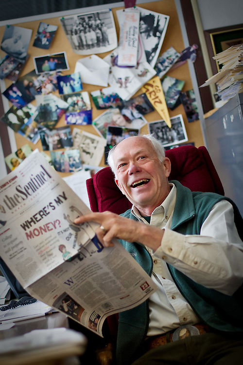 """Nils Rosdahl began his journalism advising career at North Idaho College in 1984 and his students have earned hundreds of awards for """"The Sentinel"""" the college's student newspaper."""