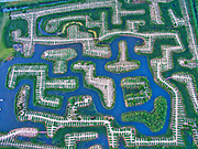 ZHENJIANG, CHINA - <br /> <br /> Aerial view of Wetland Maze On Yangtze River<br /> <br /> Aerial view of a wetland maze on the Yangtze River on May 28, 2017 in Zhenjiang, Jiangsu Province of China. A wetland maze was built for entertainment on the Yangtze River Zhenjiang section. <br /> ©Exclusivepix Media