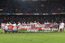 November 12, 2017 - Basel, 12.11.2017, Fussball WM Qualifikation Playoff, Schweiz - Nordirland, Die Spieler bedanken sich bei den Fans. (Credit Image: © Daniel Christen/EQ Images via ZUMA Press)