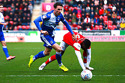 Alex Rodman of Bristol Rovers beats Hakeeb Adelakun of Rotherham United to the ball - Mandatory by-line: Ryan Crockett/JMP - 18/01/2020 - FOOTBALL - Aesseal New York Stadium - Rotherham, England - Rotherham United v Bristol Rovers - Sky Bet League One