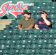 MORNING JOURNAL/DAVID RICHARD<br />A fan wipes a tear from her eye after the Indians' 4-3 loss to Chicago yesterday at Jacobs Field.