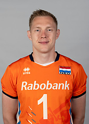 14-05-2018 NED: Team shoot Dutch volleyball team men, Arnhem<br /> Daan van Haarlem #1 of Netherlands