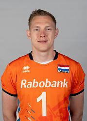 14-05-2018 NED: Team shoot Dutch volleyball team men, Arnhem<br /> Daan van Haarlem #1 of Netherlands