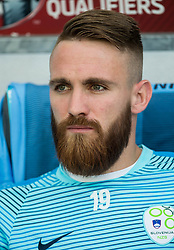 Zan Majer of Slovenia during football match between National teams of Slovenia and Malta in Round #6 of FIFA World Cup Russia 2018 qualifications in Group F, on June 10, 2017 in SRC Stozice, Ljubljana, Slovenia. Photo by Vid Ponikvar / Sportida