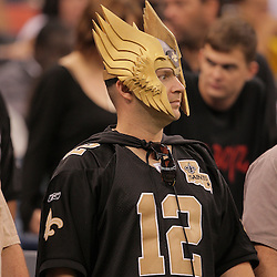 2008 October, 12: A New Orleans Saints in the stands during a week six regular season game between the Oakland Raiders and the New Orleans Saints at the Louisiana Superdome in New Orleans, LA.