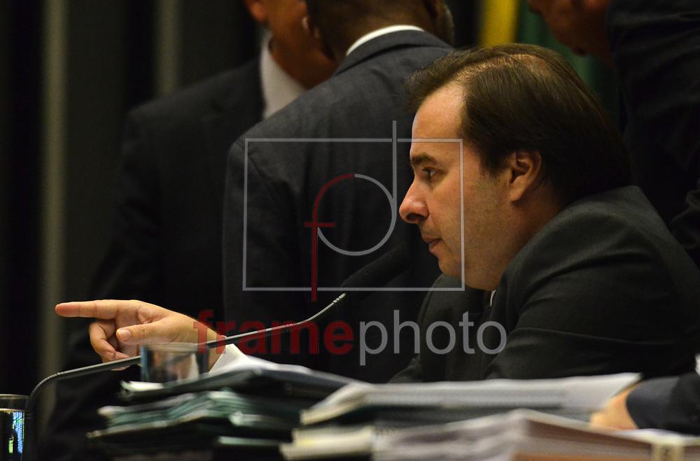 Brasilia (DF), 29/11/2016-O Pres, da Camara Rodrigo Maia preside sessão plenaria nesta terça 29. Foto: Renato Costa / FramePhoto