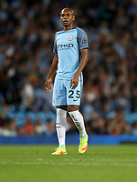 Football - 2016 / 2017 Champions League - Qualifying Play-Off, Second Leg: Manchester City [5] vs. Steaua Bucharest [0]<br /> <br /> Fernandinho of Manchester City during the match, at the Ethihad Stadium.<br /> <br /> COLORSPORT/LYNNE CAMERON