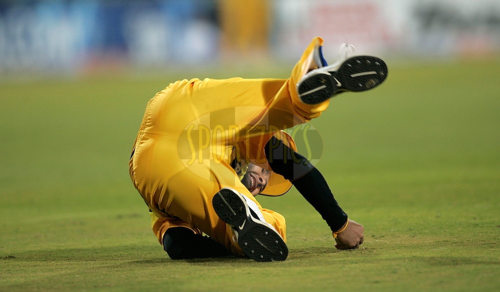 CENTURION, SOUTH AFRICA - 30 April 2009.  during the  IPL Season 2 match between the Rajasthan Royals and the Chennai Superkings held at  in Centurion, South Africa..Chennai Super Kings player Parthlv Patel celebrates
