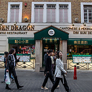 Golden Dragon in London Chinatown Sweet Tooth Cafe and Restaurant at Newport Court and Garret Street on 15 June 2019, UK.