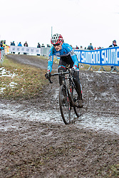 Mical Dyck (CAN), Women Elite, Cyclo-cross World Championships Tabor, Czech Republic, 31 January 2015, Photo by Pim Nijland / PelotonPhotos.com