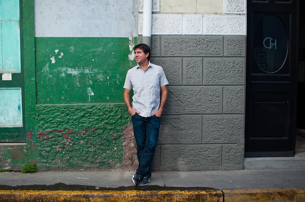 PORTRAITS KEYES CHRISTOPHER HARDIN.Casco Viejo, Panama City - Panama 21-03-2012.<br /> (Copyright &copy; Aaron Sosa)