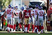 New York Giants celebrates a touchdown against the San Francisco 49ers at Levi's Stadium in Santa Clara, Calif., on November 12, 2017. (Stan Olszewski/Special to S.F. Examiner)