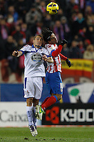 09.12.2012 SPAIN -  La Liga 12/13 Matchday 15th  match played between Atletico de Madrid vs R.C. Deportivo de la Courna (6-0) at Vicente Calderon stadium. The picture show  Alex Bergantinos (Player of R.C. Deportivo)