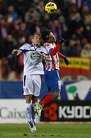 09.12.2012 SPAIN -  La Liga 12/13 Matchday 15th  match played between Atletico de Madrid vs R.C. Deportivo de la Courna (6-0) at Vicente Calderon stadium. The picture show  Alex Bergantinos (Player of R.C. Deportivo)